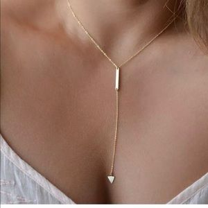Dainty Triangle and Bar Necklace